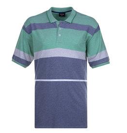 Kingsize Brand PO148 Grote maten Blauwe/ Groene Polo