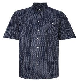Kingsize Brand SH350 Grote maten Blauw Overhemd met Geometric Print