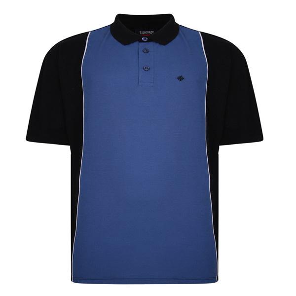 Kingsize Brand PO175 Grote maten Blauwe Polo