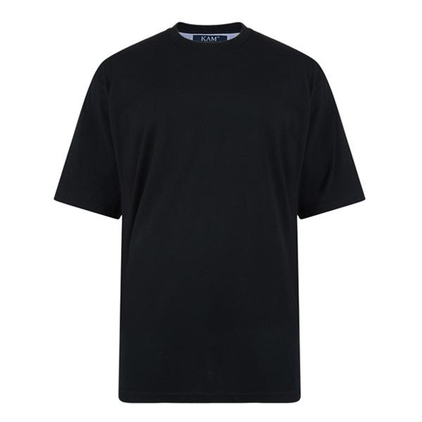 KAM 5001 Grote maten Zwart T-Shirt