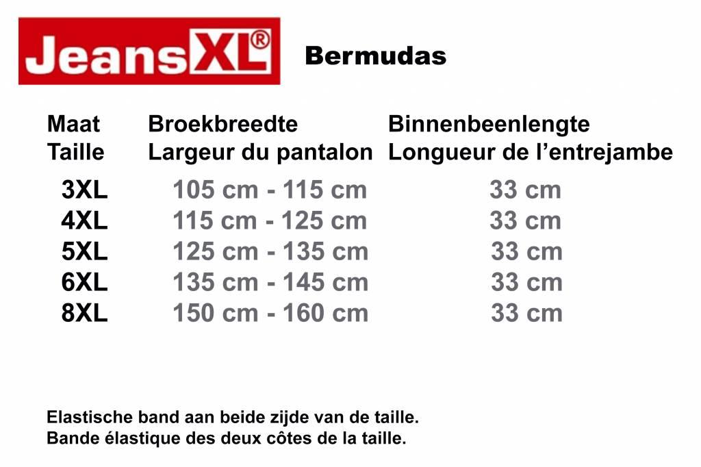 JeansXL 515 Bermuda de grandes tailles Blue