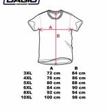 DAGIO 11701 Grote maten Teal T-shirt