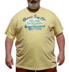 DAGIO 11702 Grote maten Geel T-shirt