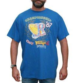 VANDAM 7715 Grote maten Blauw T-shirt