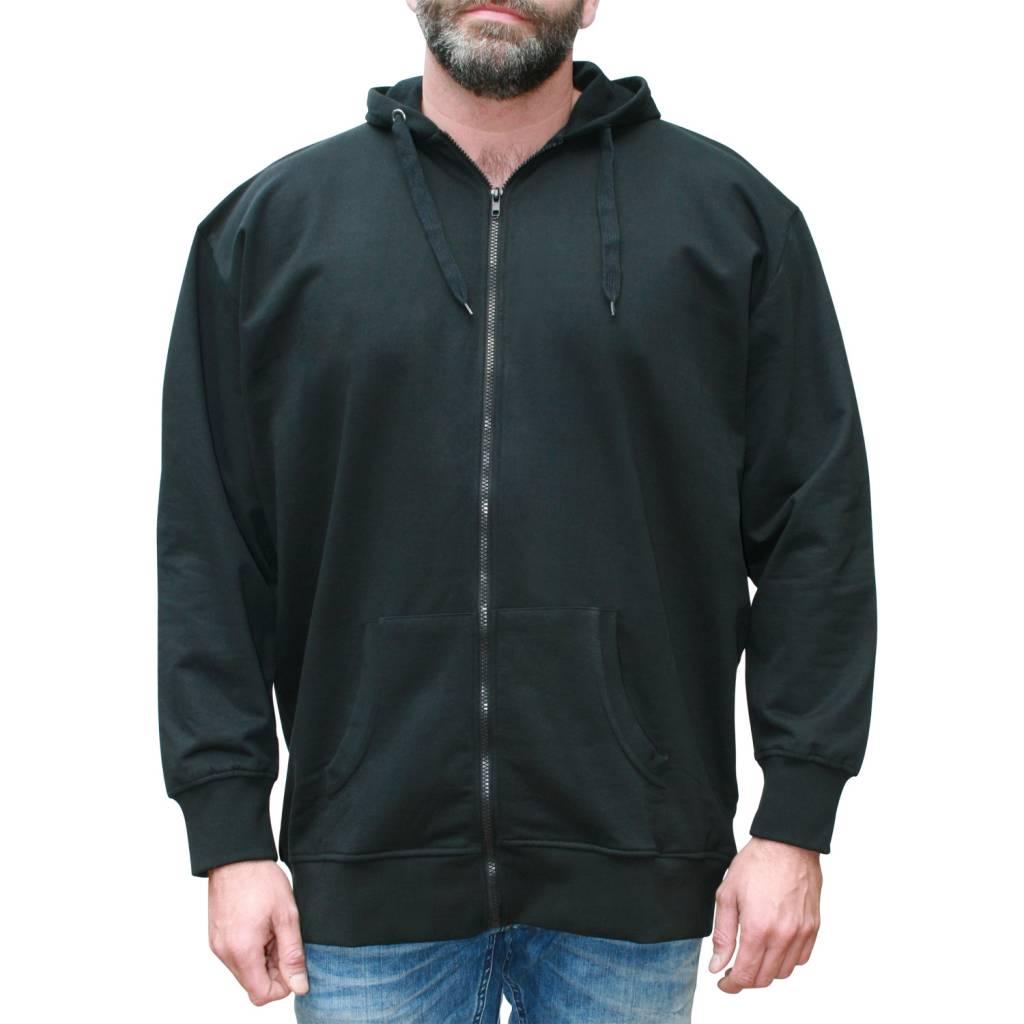 VANDAM 8801 Sweat Cardigan de grandes tailles Noir