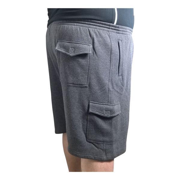 Kingsize Brand LW001 Short de jogging de grandes tailles Noir