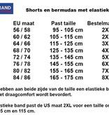 Kingsize Brand LW006 Grote maten Blauwe Jogging Shorts