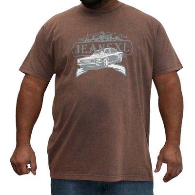 JeansXL 729 bruine grote maten T-shirt