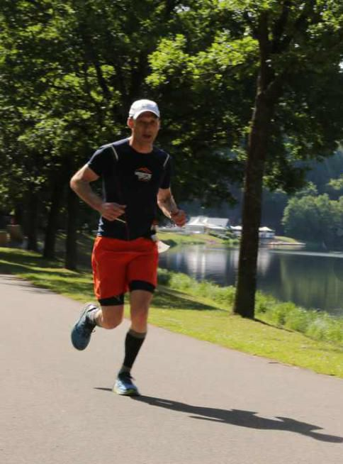Halve Marathon gelopen op de Eifelmarathon In Waxweiler (Duitsland)