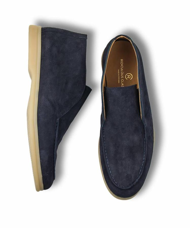 RIDICULOUS CLASSIC RIDICULOUS CLASSIC  NAVY SUEDE OPEN WALK LOAFERS