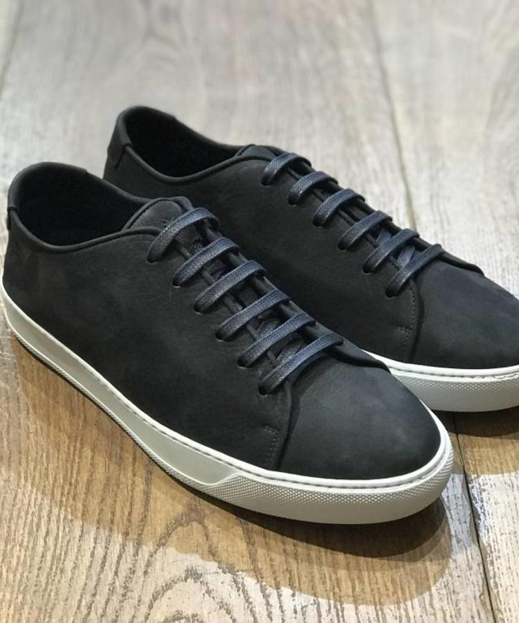 ANDREA ZORI ANDERA ZORI NAVY NUBUCK LOW-TOP