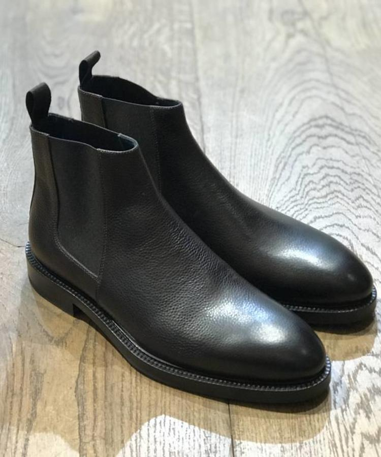 ANDREA ZORI ANDERA ZORI BROWN GRAIN LEATHER CHELSEA BOOT