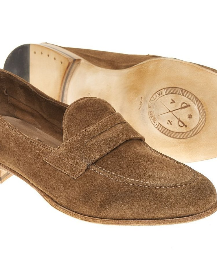 ANDREA ZORI ANDREA ZORI WASHED CAMEL CALF LOAFER