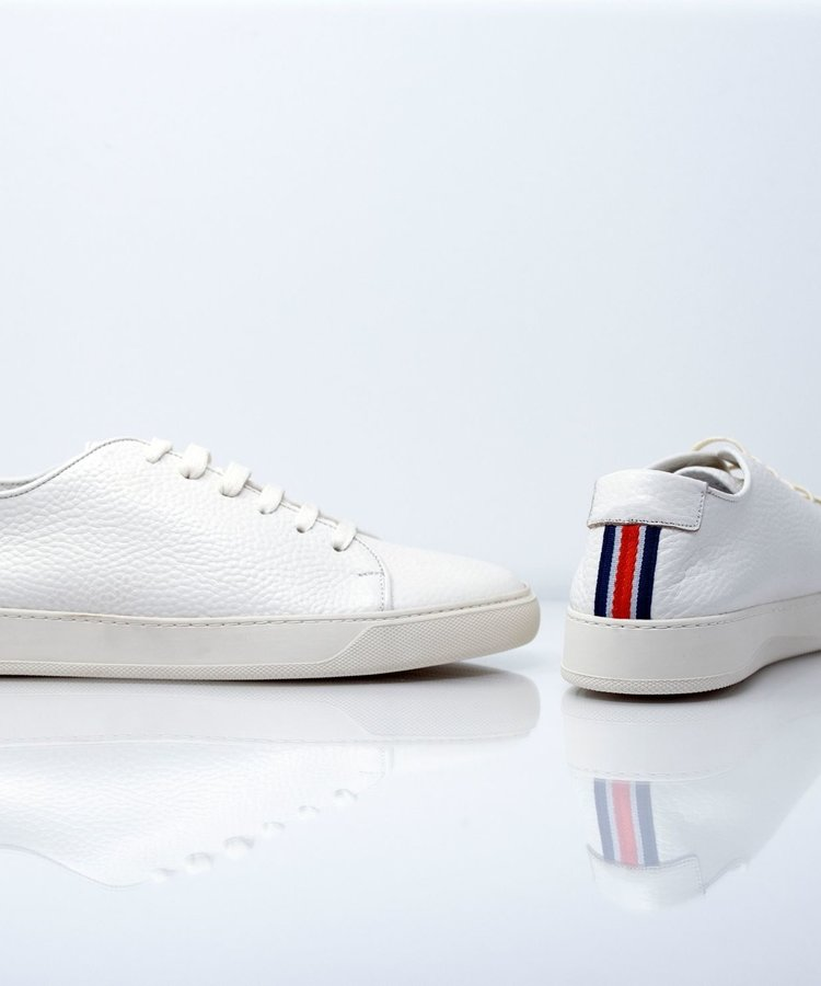ANDREA ZORI ANDREA ZORI WHITE GRAIN LEATHER SNEAKER
