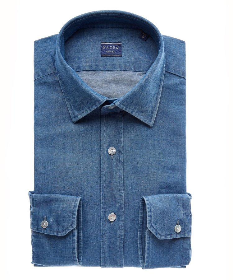 XACUS XACUS DENIM BUSINESS CASUAL SHIRT