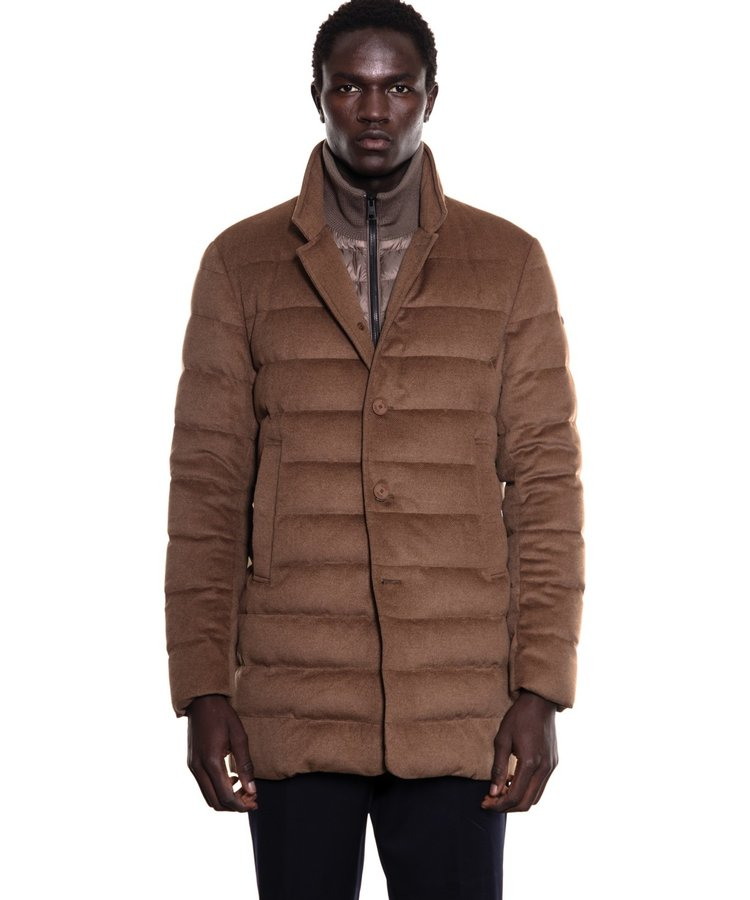 DUNO DUNO LOFT WOOL LONG JACKET CAMEL