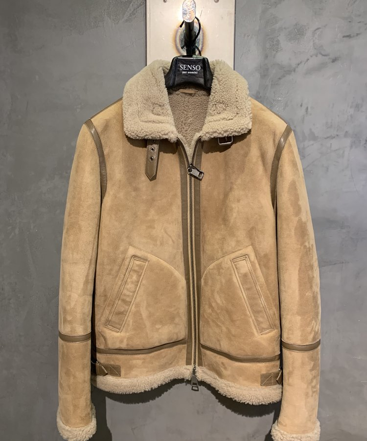 ARMA ARMA SHEARLING  LINED LEATHER JACKET