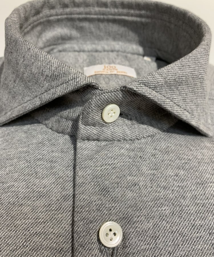 100 HANDS 100 HANDS GREY LORO PIANA JERSEY SHIRT