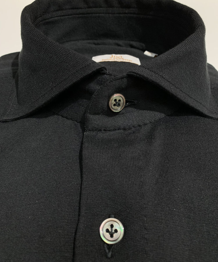 100 HANDS 100 HANDS BLACK LORO PIANA JERSEY SHIRT