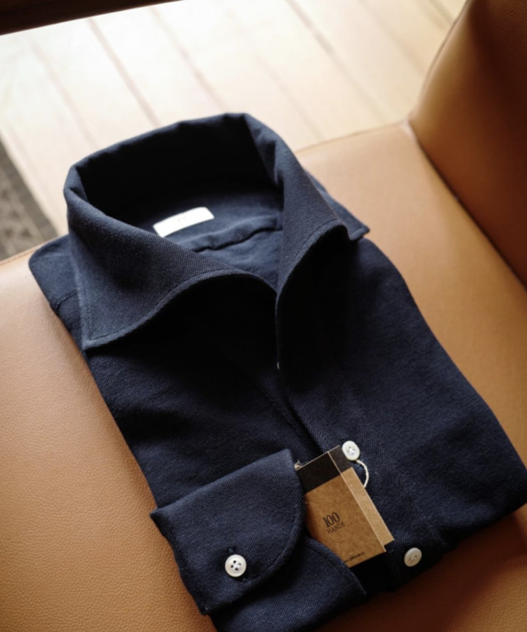 100 HANDS 100 HANDS ONE PIECE POLOSHIRT NAVY