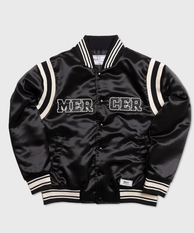 MERCER MERCER VARSITY JACKET BLACK