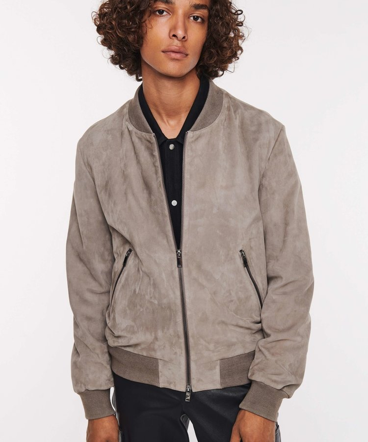 ARMA ARMA GOAT SUEDE DRIZZLE BOMBER