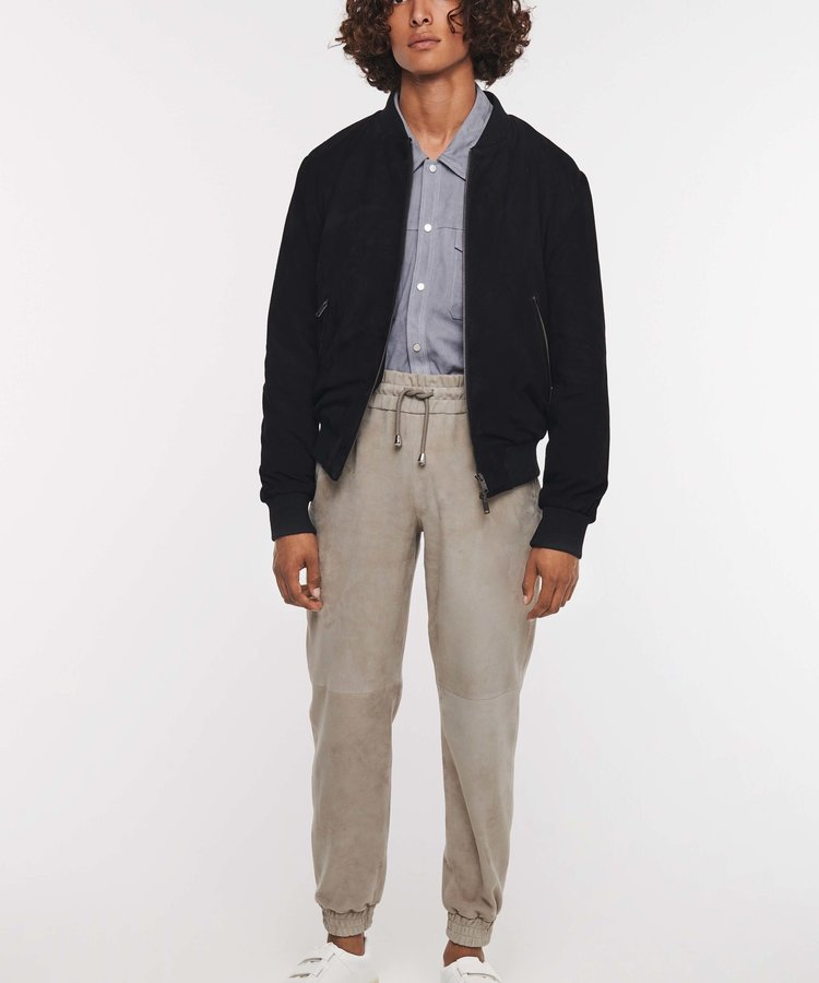 ARMA ARMA GOAT SUEDE NAVY BOMBER