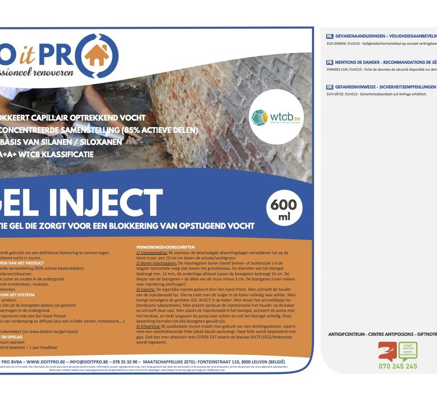 GEL INJECT (600ml) PROMO - 12 STUKS
