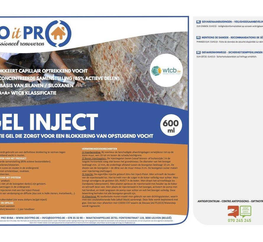 GEL INJECT (600ml) PROMO - 6 STUKS