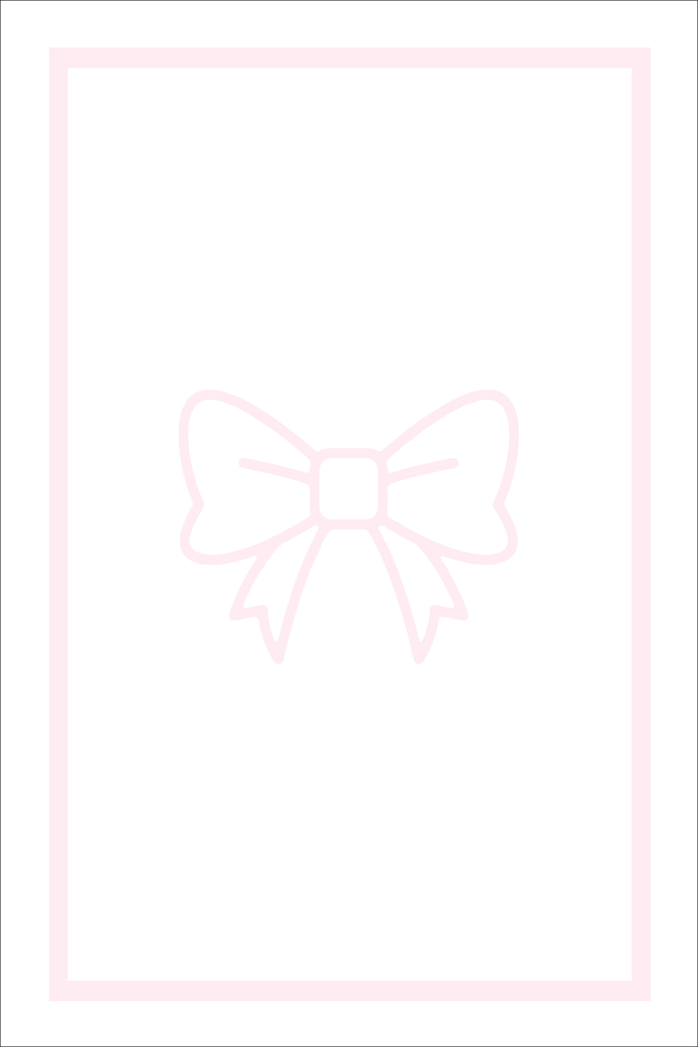 Play Carpet // White Pink Bow