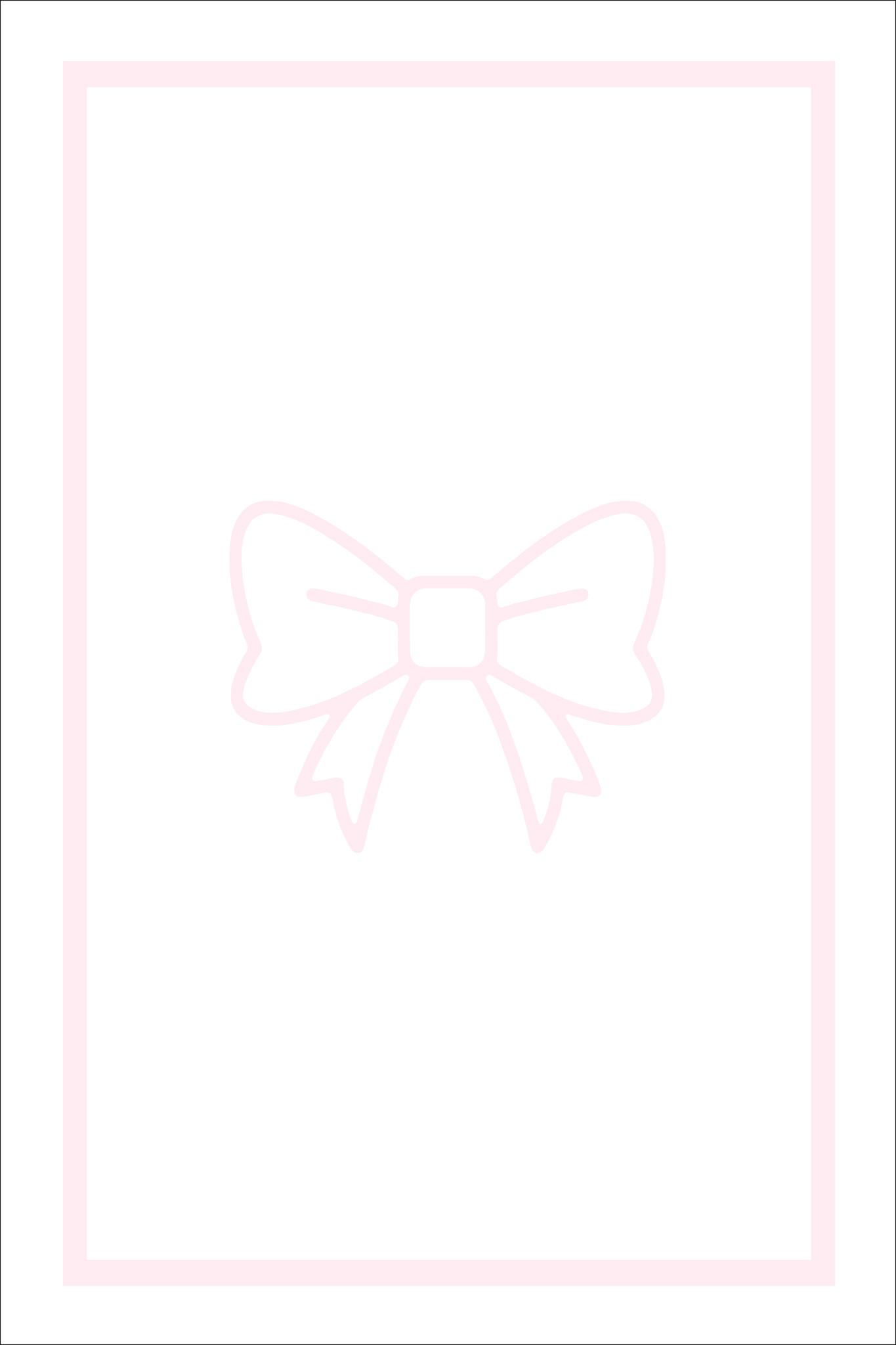Play Carpet // White Pink Bow
