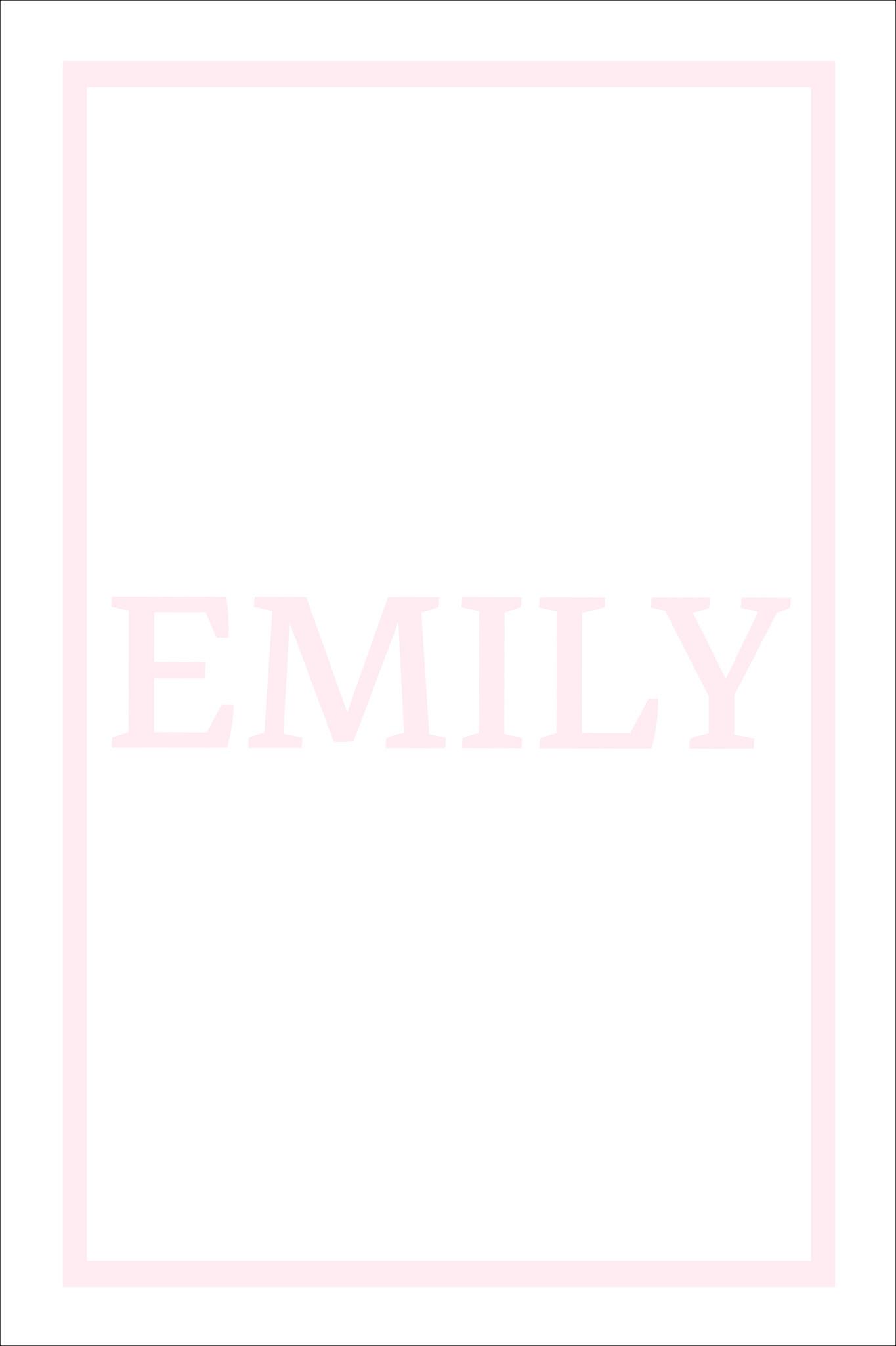 Play Carpet // White Pink - Full Name Horizontal