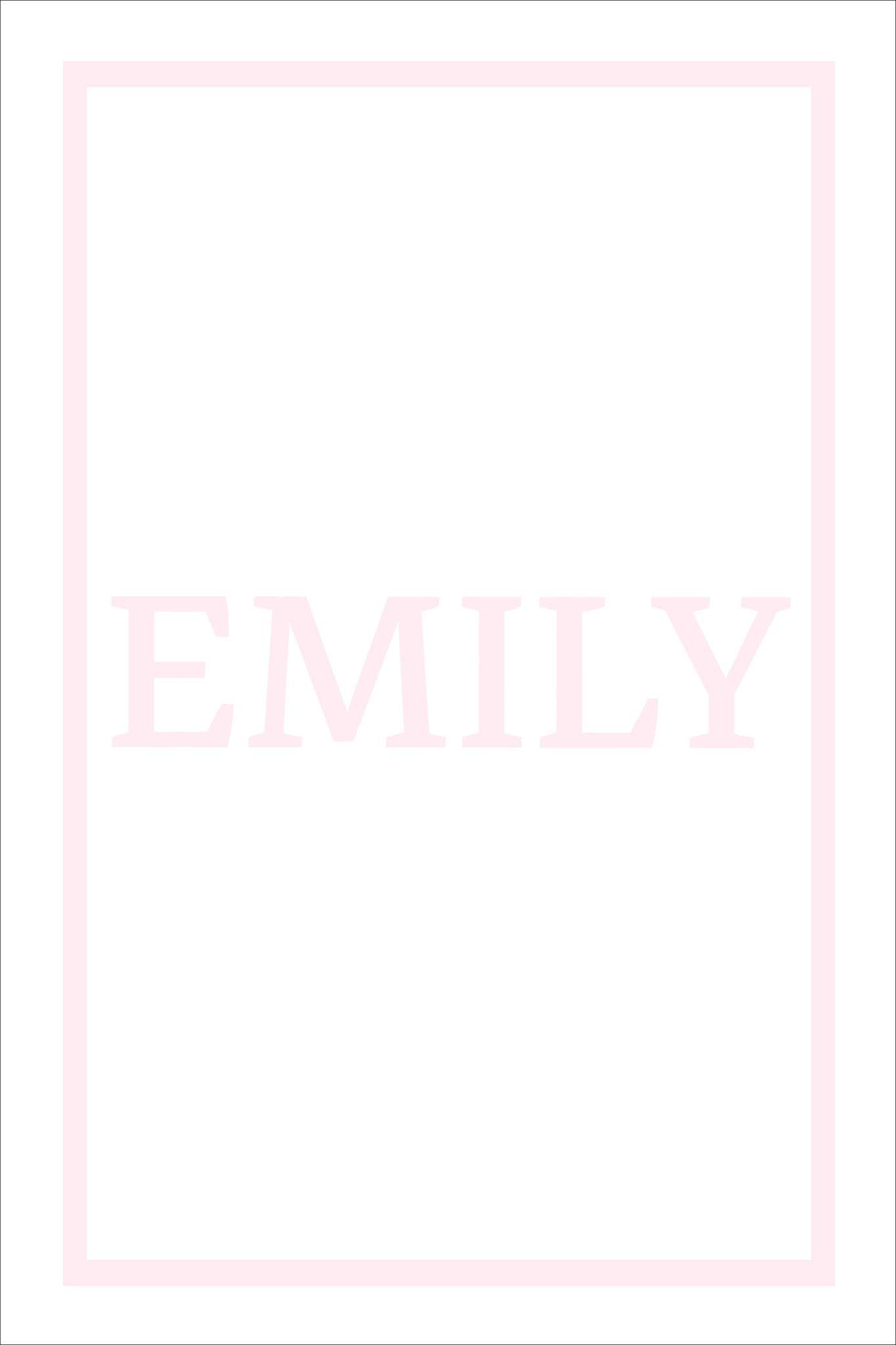 Play Carpet // White Pink - Full Name Portrait