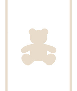 Play Carpet // White Beige Teddy Bear
