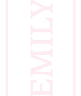 Play Carpet // White Pink - Full Name Landscape