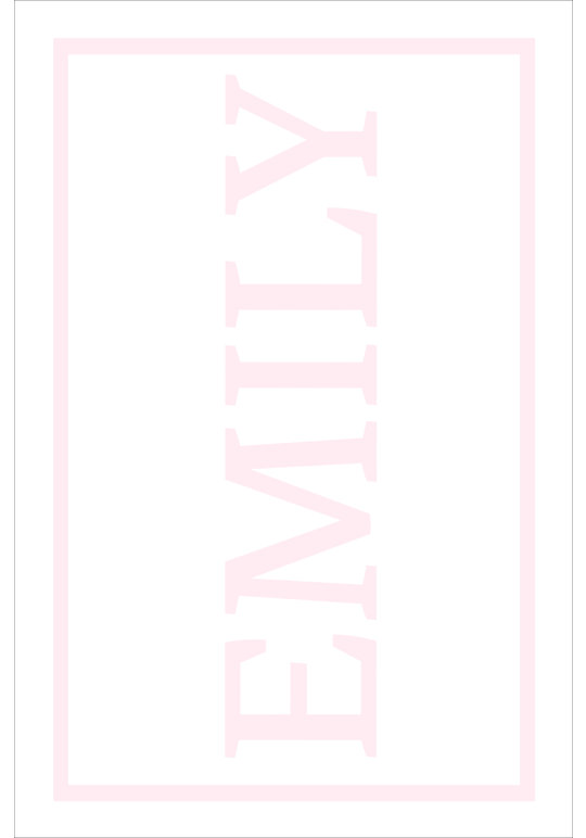 Play Carpet // White Pink - Full Name Vertical