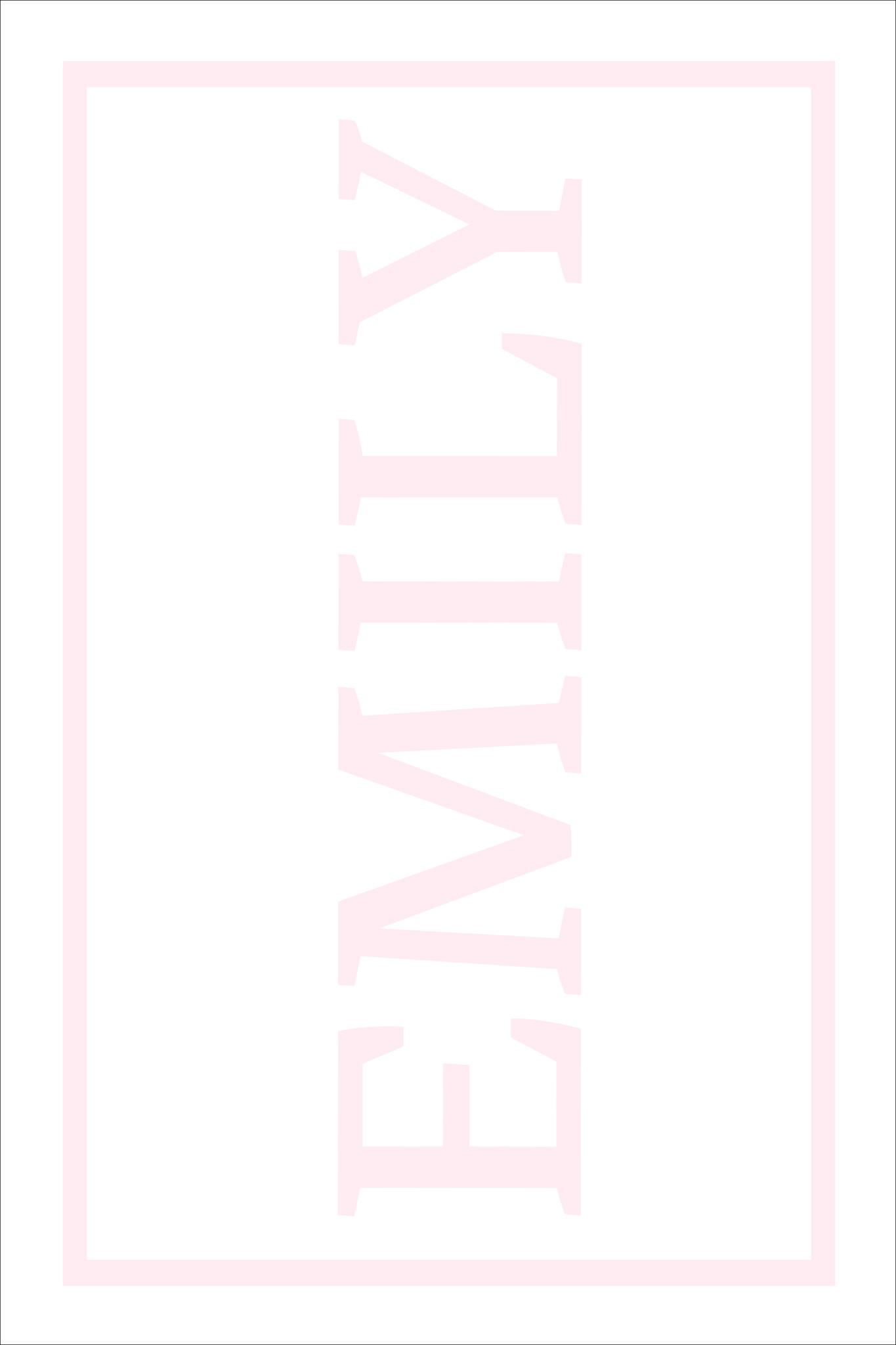 Play Carpet // White Pink - Full Name Vertical