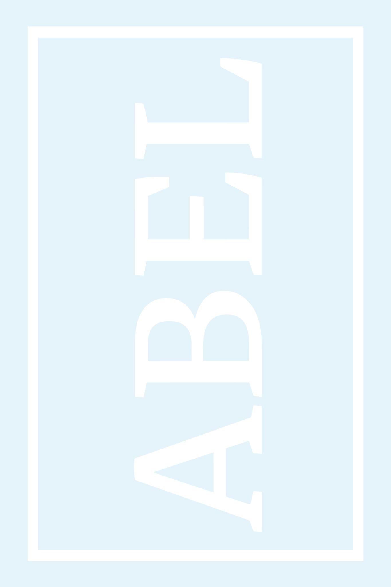 Play Carpet // Blue White - Full Name  Vertical