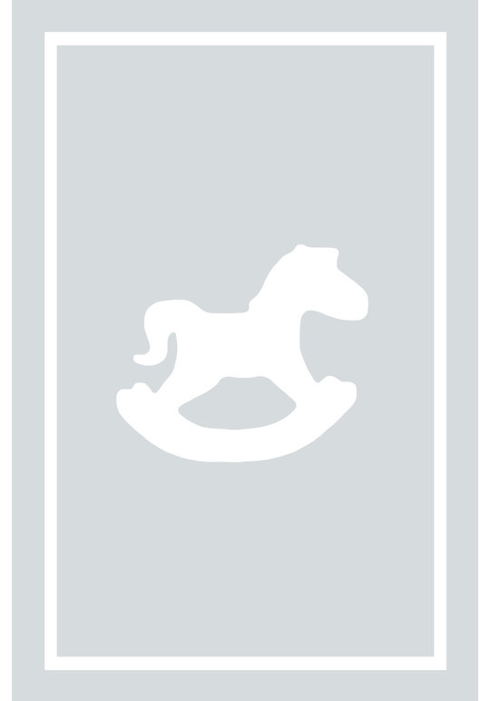 Play Carpet // Light Grey White Rocking Horse
