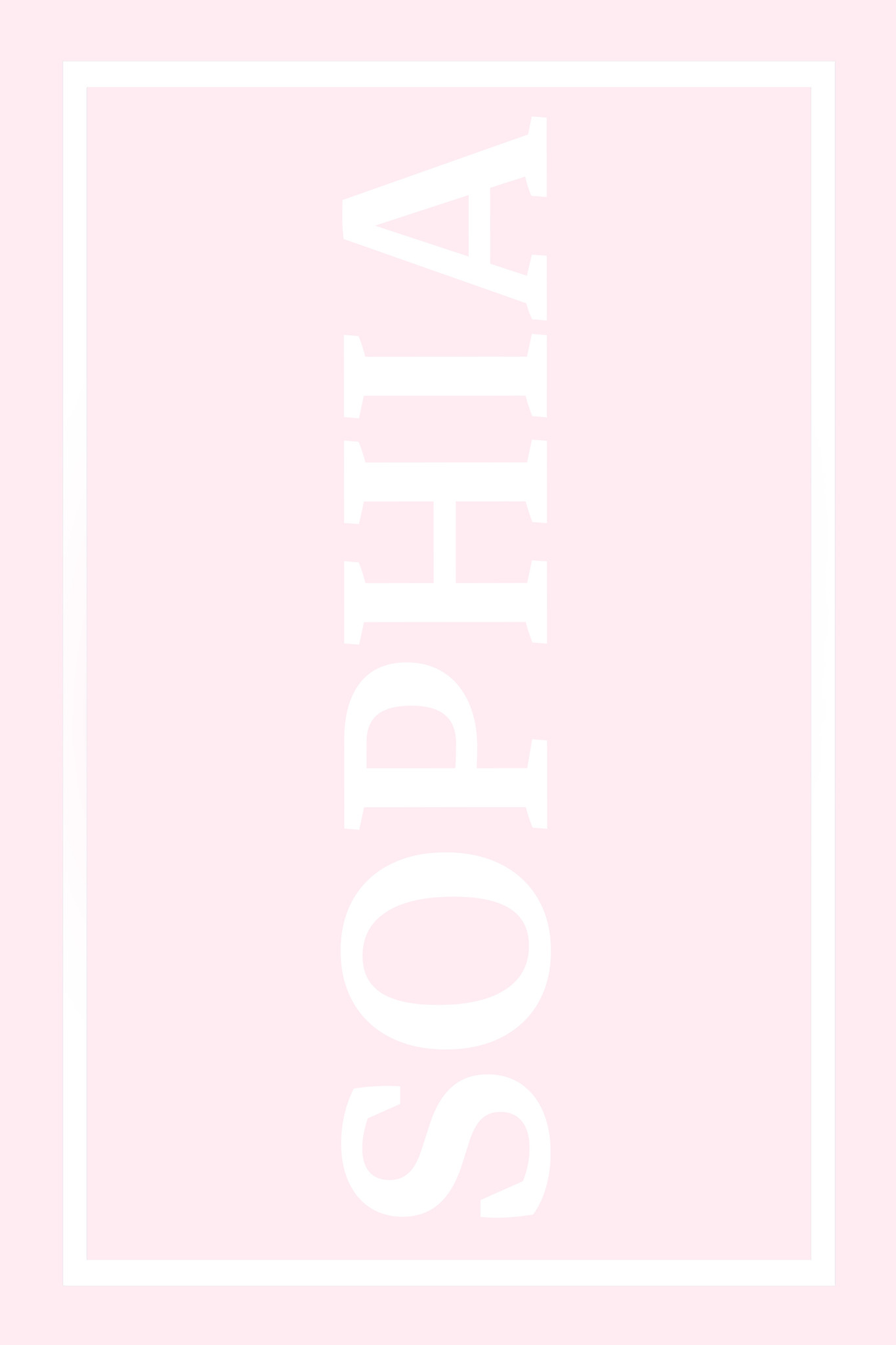 Play Carpet // Pink White - Full Name Vertical