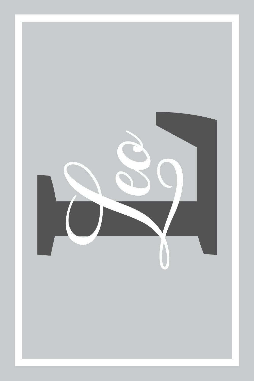 Play Carpet // Light Grey White - Name & Initial - Landscape