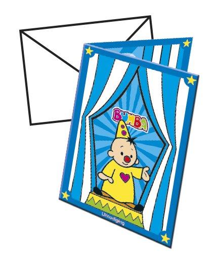Clown Bumba Einladungen 8 Stã¼ck Mit Umschlã¤gen