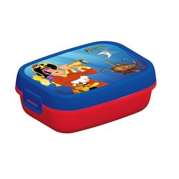 Lunchbox Piet Piraat blauw/rood