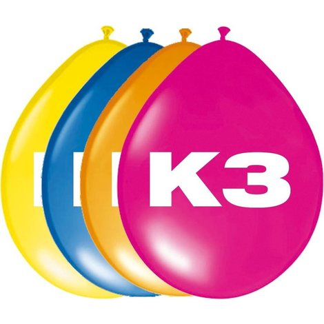 K3 Ballonnen - 8 stuks