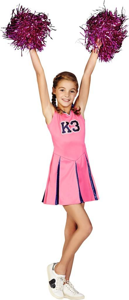 Robe de pom-pom girl et pompoms K3 - taille 6-8 ans