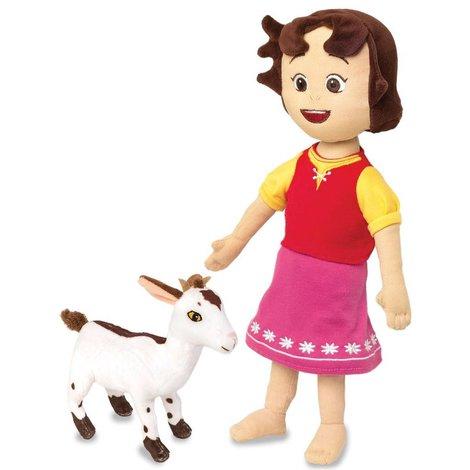 Peluche Heidi - Heidi et sa chèvre 30 cm