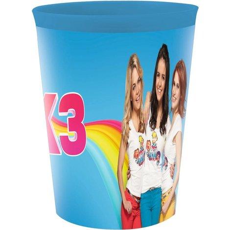 K3 Beker frosted - Blauw