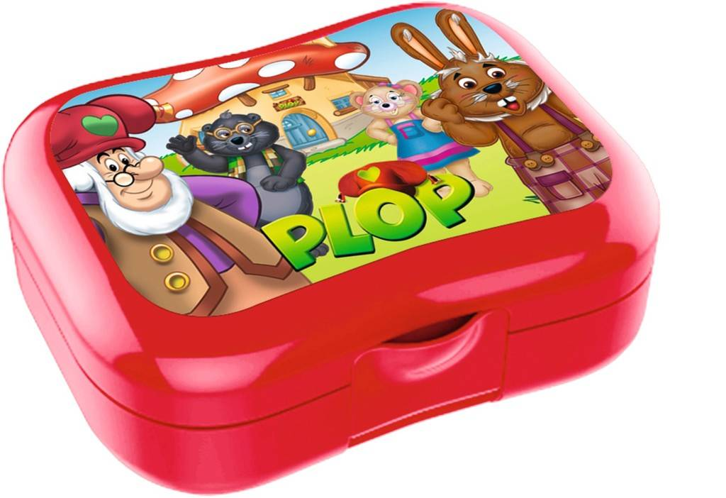 Boîte à tartines Plop & les Peppers - rouge