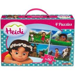 Valisette 4 puzzles Heidi - 4x50 pièces