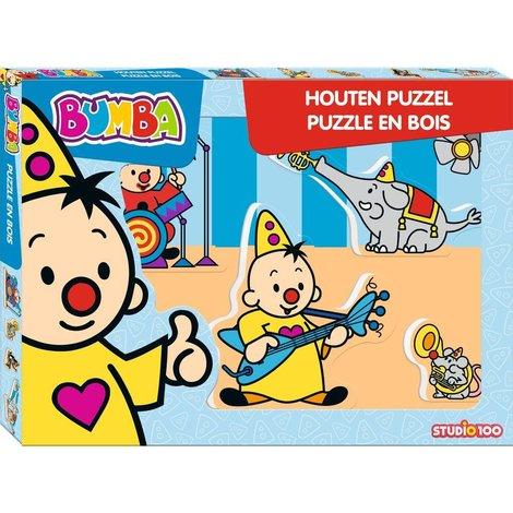 Bumba Puzzel hout - Muziek 5 stukjes